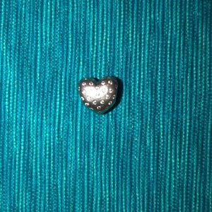 Diamond heart pandora bracelet charm